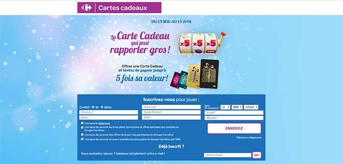 www.jeu.carte-cadeau-carrefour.com - Jeu Carrefour Cartes Cadeaux