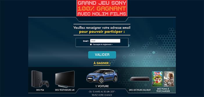 www.jeusonydvdgagnant.fr - Grand Jeu Sony 100% Gagnant Nolim Films