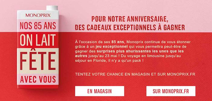 www.monoprix.fr - Grand Jeu 85 ans Monoprix