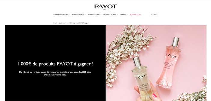 www.payot.com - Jeu Concours Payot 1000 euros à gagner