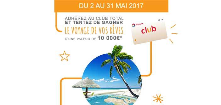 www.total.fr/club-total - Grand Jeu Club Total Voyage de rêve