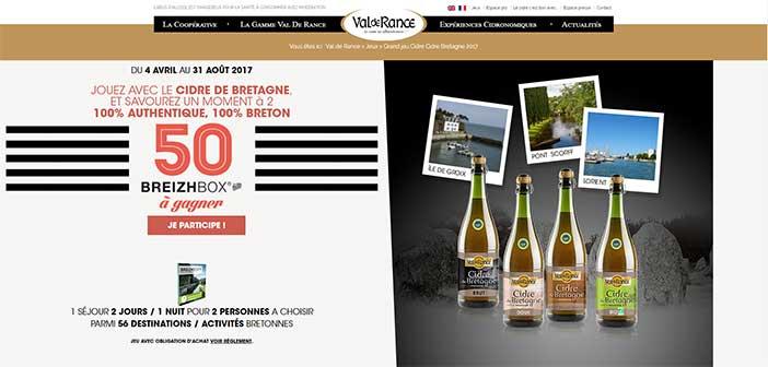 www.valderance.com - Jeu Cidre Bretagne Val de Rance 2017