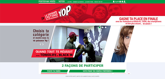 www.yop.fr - Le Grand Casting ta vie Puissance Yop
