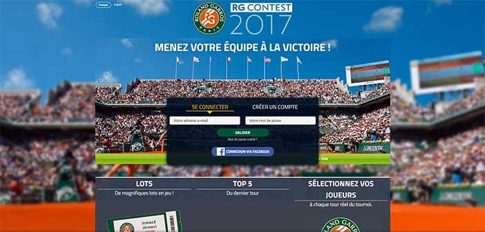 Rgcontest.rolandgarros.com - Jeu Concours Roland Garros 2017