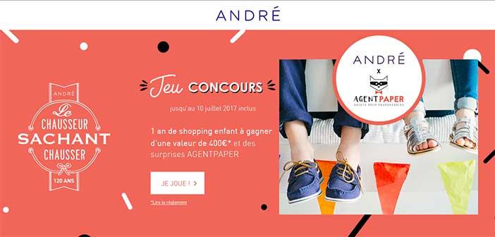 www.andre.fr/jeuconcours - Jeu André le chausseur sachant chausser