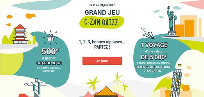 www.compteczam.fr/jeu - Jeu C-Zam Quizz Carrefour Banque