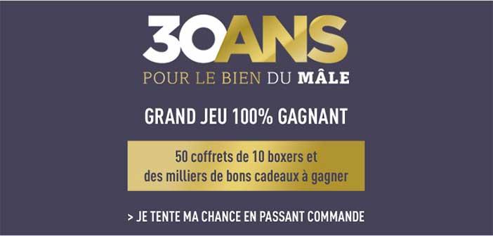 www.dim.fr - Grand Jeu 30 ans Dim 100% Gagnant