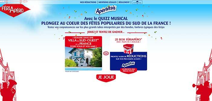 www.feriapero.fr - Jeu Apérivrais Quiz Musical Feriapero