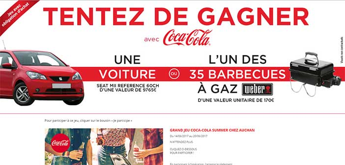 www.jeu-cocacola.fr/auchan - Grand Jeu Été chez Auchan