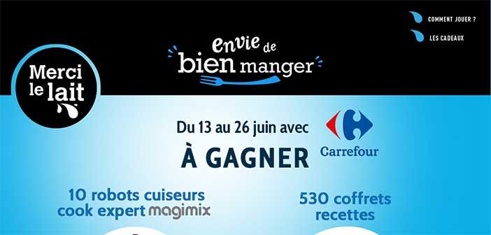 www.mercilelait.fr/carrefour - Jeu Merci Le Lait Carrefour