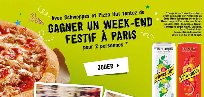www.pizzahut.fr - Grand Jeu Pizza Hut Schweppes Mojito