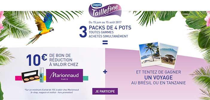 www.taillefine-marionnaud.fr - Jeu Danone Taillefine Marionnaud Été 2017