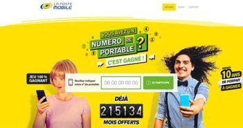 jeu.lapostemobile.fr - Jeu La Poste Mobile 100% Gagnant
