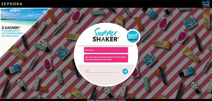 Thegame.sephora.fr - Jeu Sephora Summer Shaker