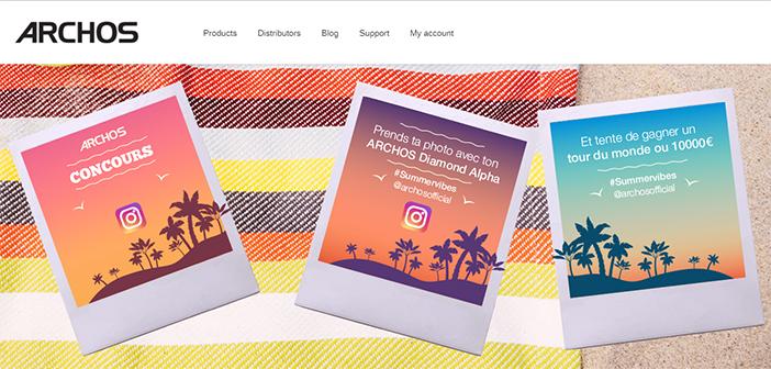 www.archos.com - Jeu concours Archos #Summervibes