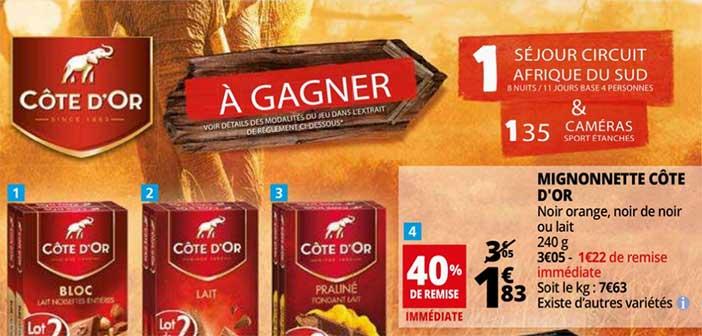 www.auchan.fr – Jeu SMS Auchan Chocolat Côte d'Or
