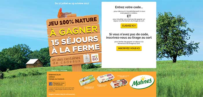 www.jeumatines.com - Jeu Matines 100% nature