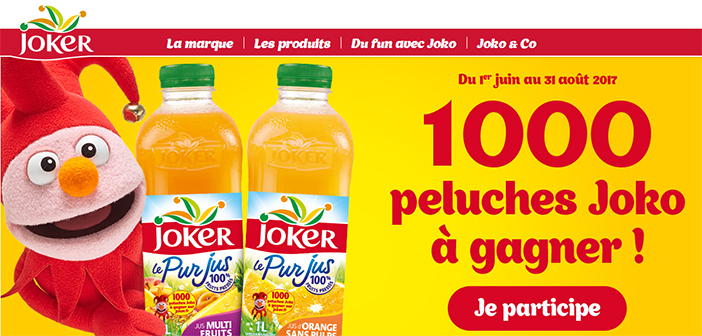 www.joker.fr - Jeu Joker 1000 peluches Joko à gagner