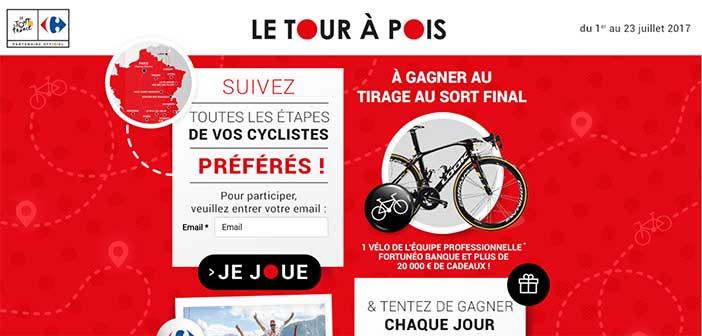www.letourapois.carrefour.fr - Jeu Carrefour Le tour à pois Tour de France 2017