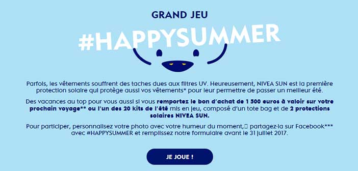 www.nivea.fr - Grand Jeu Happy Summer Nivea Sun