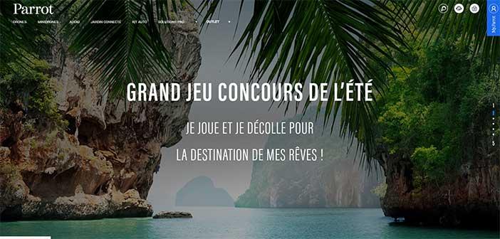 www.parrot.com - Grand Jeu Concours de l'Été Parrot