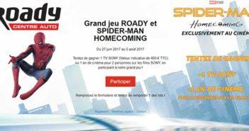 www.roady.fr - Jeu Roady Spiderman Homecoming