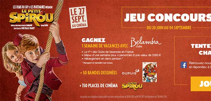 www.tanns.fr - Jeu Concours Tann's Le Petit Spirou