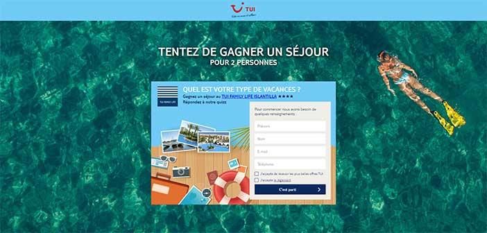 www.tui.fr - Jeu Concours Tui Vacances Été