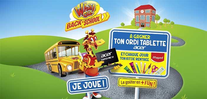 backtoschool2017.whaou.com - Jeu Whaou! Back to School 2017