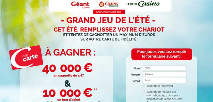 jeu.geantcasino.fr/jeu-ete - Grand Jeu de l'été Géant Casino