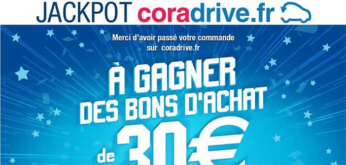 www.cora.fr - Jeu Jackpot Cora Drive