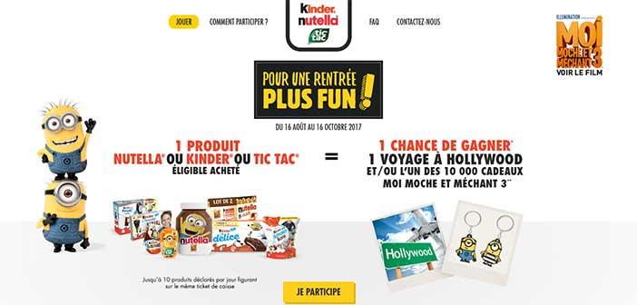 www.larentreenutellakinder.fr - Jeu La Rentrée Fun Kinder Nutella