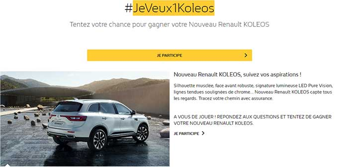 jeu renault jeveux1koleos bestofconcours. Black Bedroom Furniture Sets. Home Design Ideas