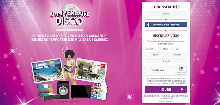 www.anniversaire-disco-but.fr - Jeu Anniversaire Disco But.fr