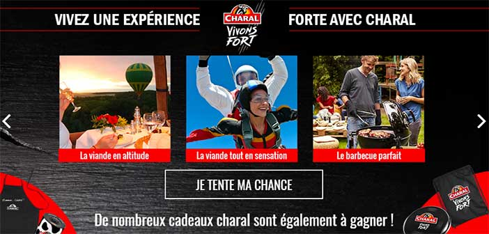 www.charal.fr/operations-speciales - Jeu Charal Vivons Fort