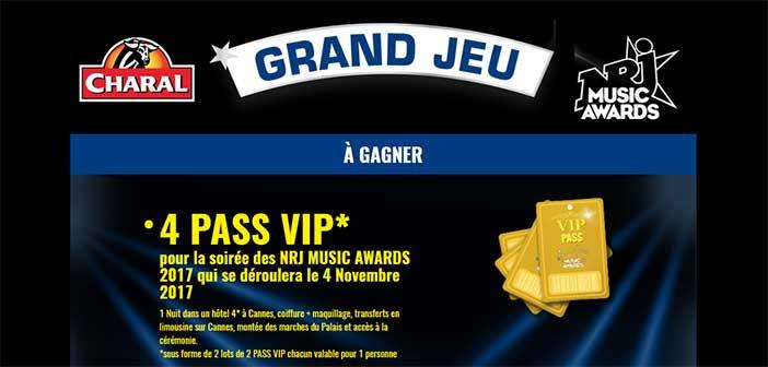 www.charal.fr/nrj-musicawards - Jeu Charal NRJ Music Awards