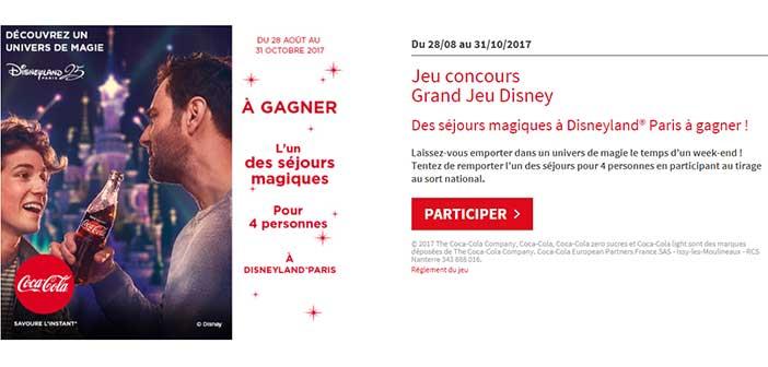 www.jeucocacola.fr/disney - Jeu Coca-Cola Disneyland Paris