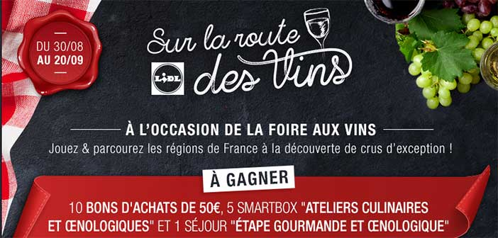 www.lidl.fr - Jeu Lidl Sur la Route des Vins