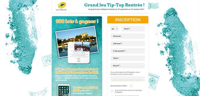 www.jeutiptop.laposte.fr - Jeu Tip-Top Rentrée La Poste