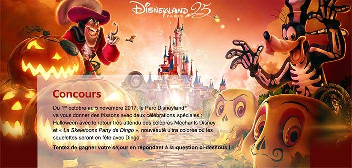 Concours.disney.fr - Jeu Disneyland Paris Halloween 2017