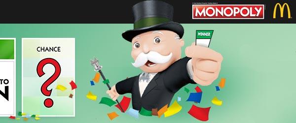 Jeu Monopoly Mcdo 2017