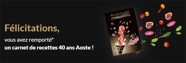 aoste.fr/jeu-irresistible-anniversaire - Jeu Aoste Irrésistible Anniversaire