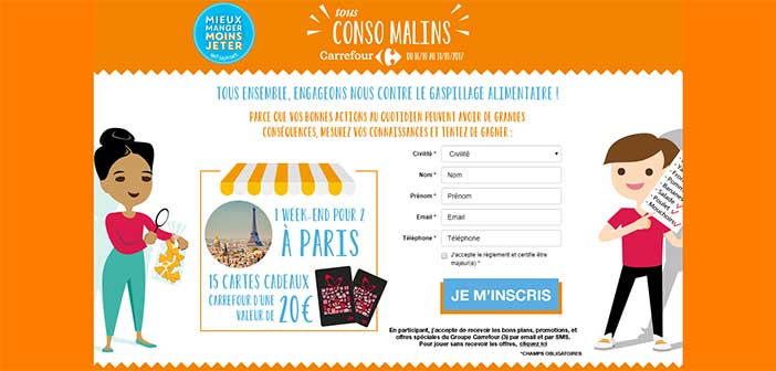 www.carrefour.fr – Jeu Tous Conso Malins Carrefour