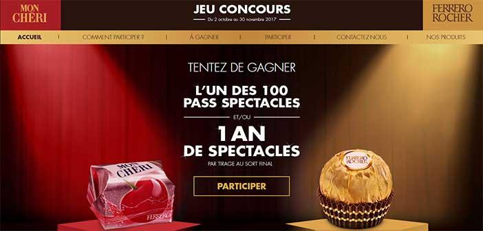 www.concours.ferrero.fr - Jeu Ferrero Les Pralines Font Leur Show 2017