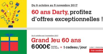 www.darty.com/jeu60ans - Jeu Anniversaire Darty 60 ans