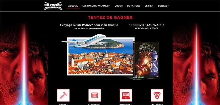 www.jeuwilkinson.fr/starwars - Jeu Star Wars Wilkinson