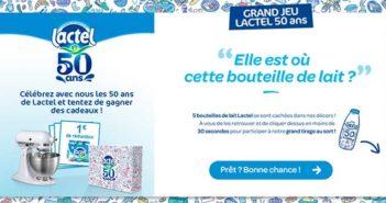 www.lactel.fr/grand-jeu-lactel-50ans - Jeu Anniversaire Lactel 50 ans
