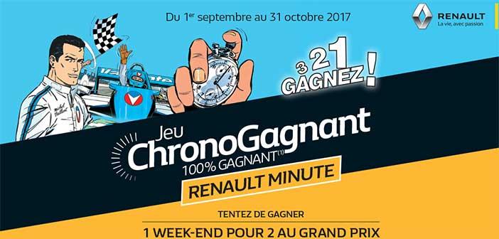 www.renault-minute-michel-vaillant.fr - Jeu 100% Gagnant Renault Michel Vaillant