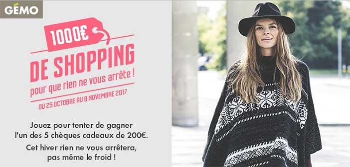 Jeu.gemo.fr - Jeu Gemo 1000 euros de shopping à gagner