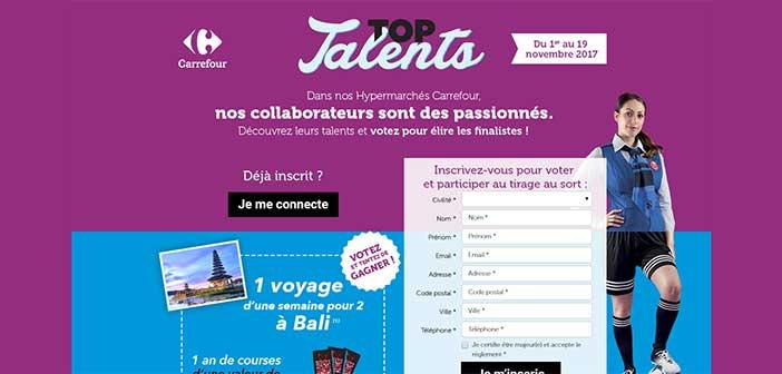 www.carrefour.fr/jeux-concours - Jeu Top Talent Carrefour